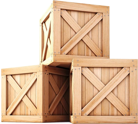 wooden boxes stacked